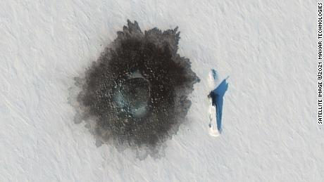 A Russian Delta Physician 1 'But the submarine to the ice next to Marcus Island on March 27, in an exercise, and a hole blown in his left hand, is likely to ice the demolition underwater.
