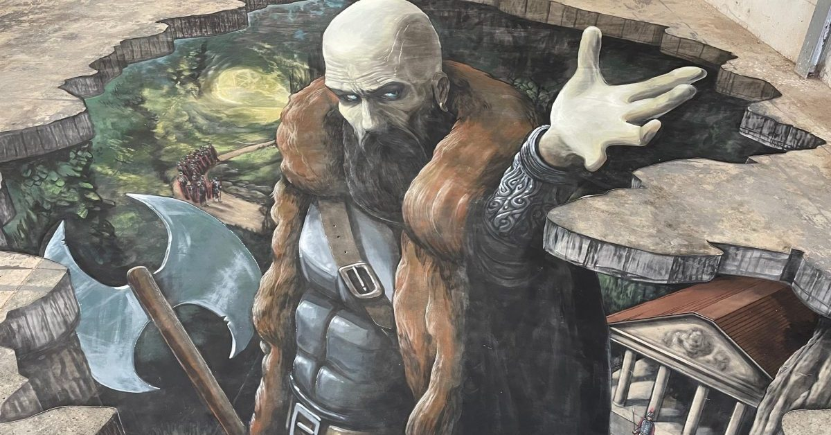 Joe Hill Uses Stunning Street Art to Tell Story of Sir Guy, St. George's 'Son'