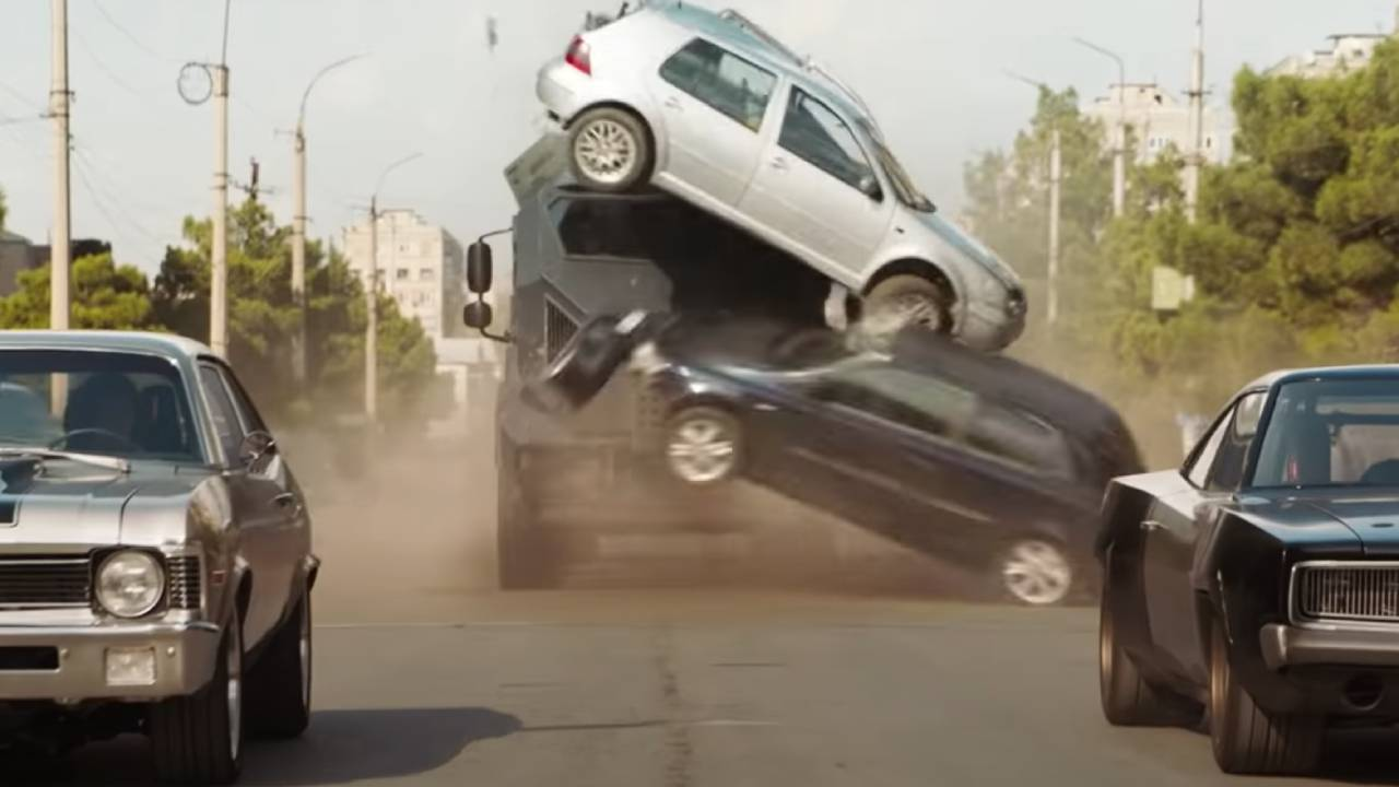 Making-of Fast and Furious 9: crumpled tin and messed up car crashes