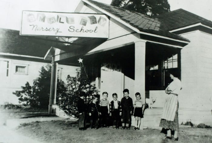 Ruth Pease opened Little Red School House in 1945 in response to the country's request for help in meeting the childcare needs of the post-war community.