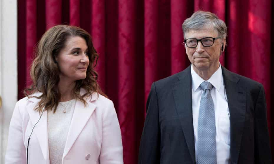 Melinda and Bill Gates in 2017. She was reportedly unhappy with her husband's links with Jeffrey Epstein.