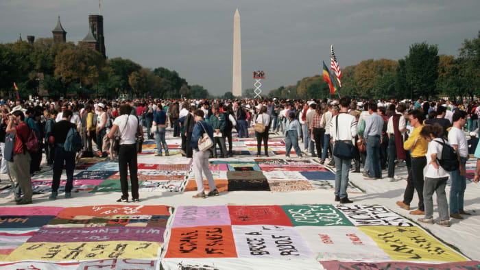 How the AIDS quilt helped thousands of people commemorate the epidemic