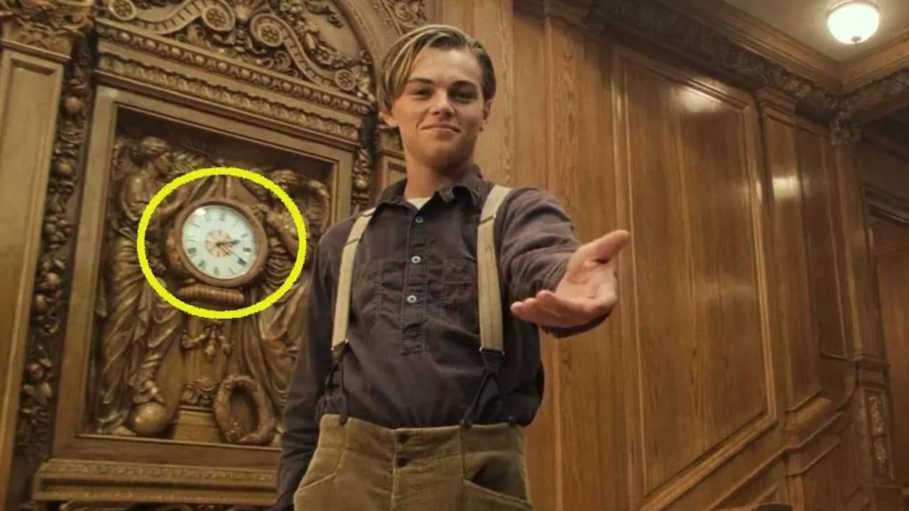 Titanic: the little detail hidden on the clock at the end of the film