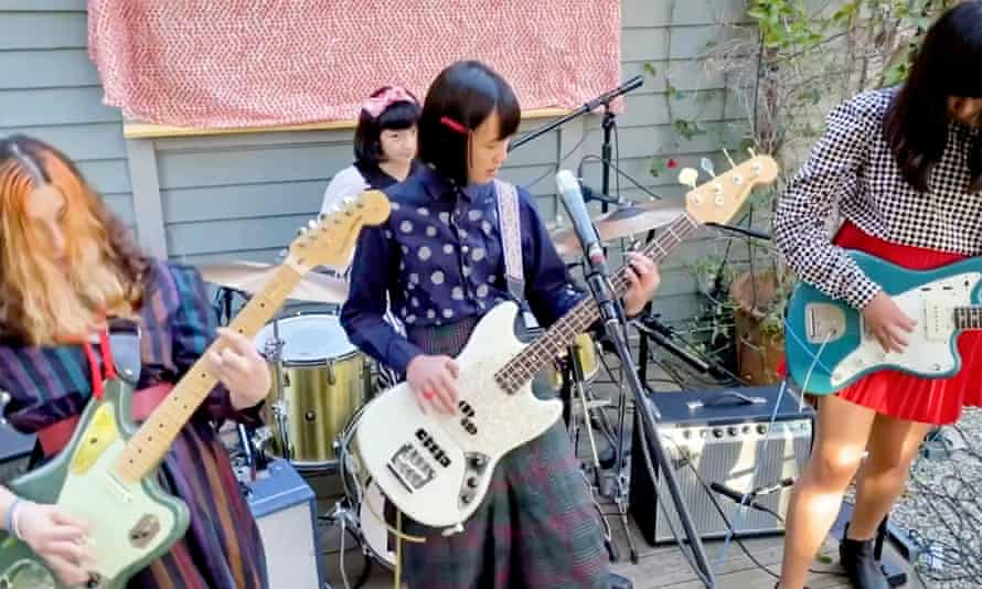 The Linda Lindas perform during LA Family Housing's Home Together virtual event on 29 April