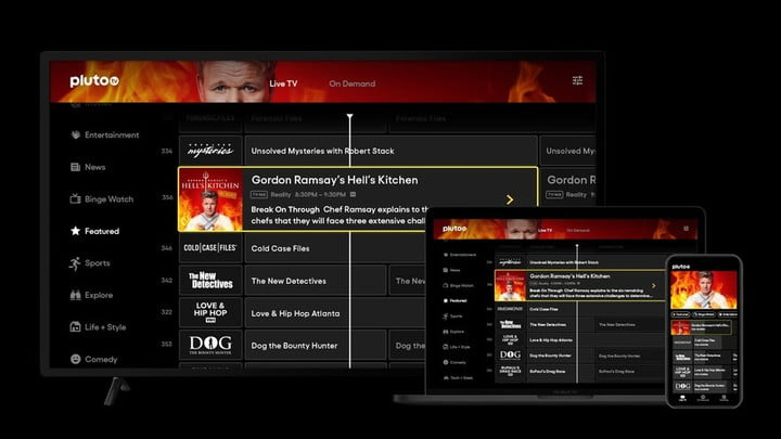 Pluto TV, best live TV streaming services