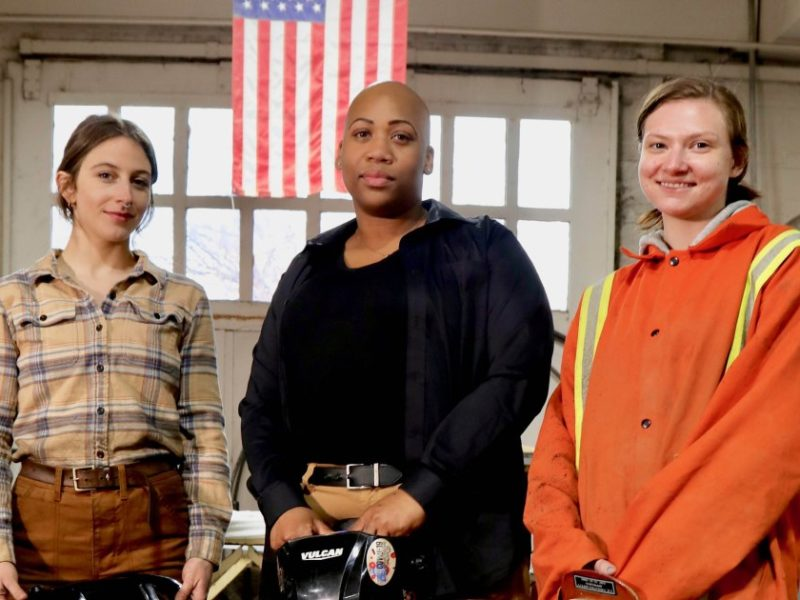 Female welders torch glass ceiling in male-dominated field