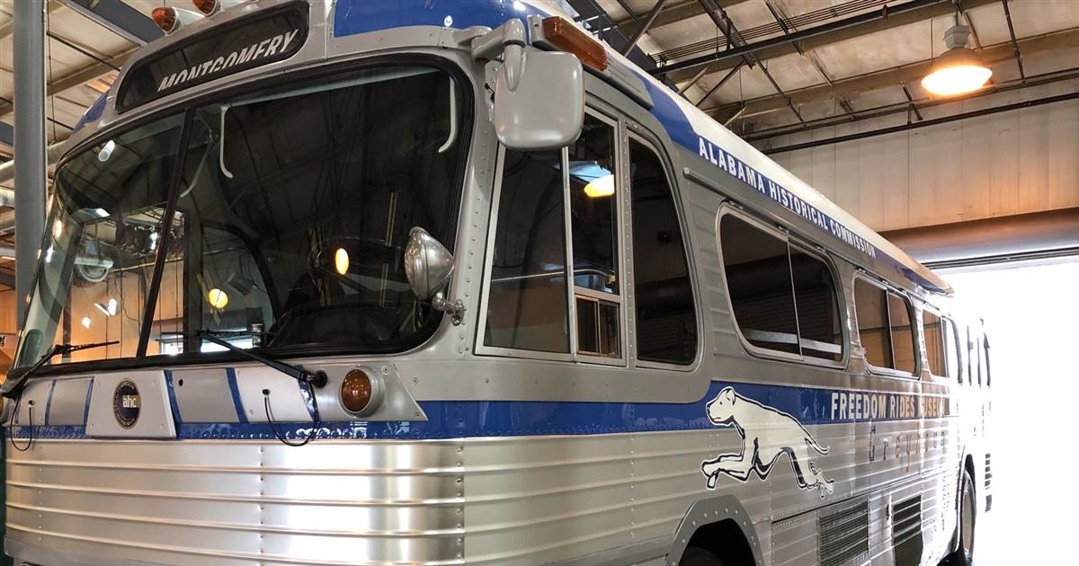 Restored Greyhound bus unveiled for Freedom Rides' 60th anniversary