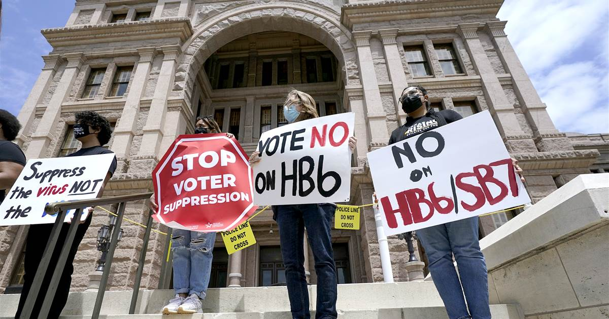 Dozens of businesses speak out against voting restrictions in Texas