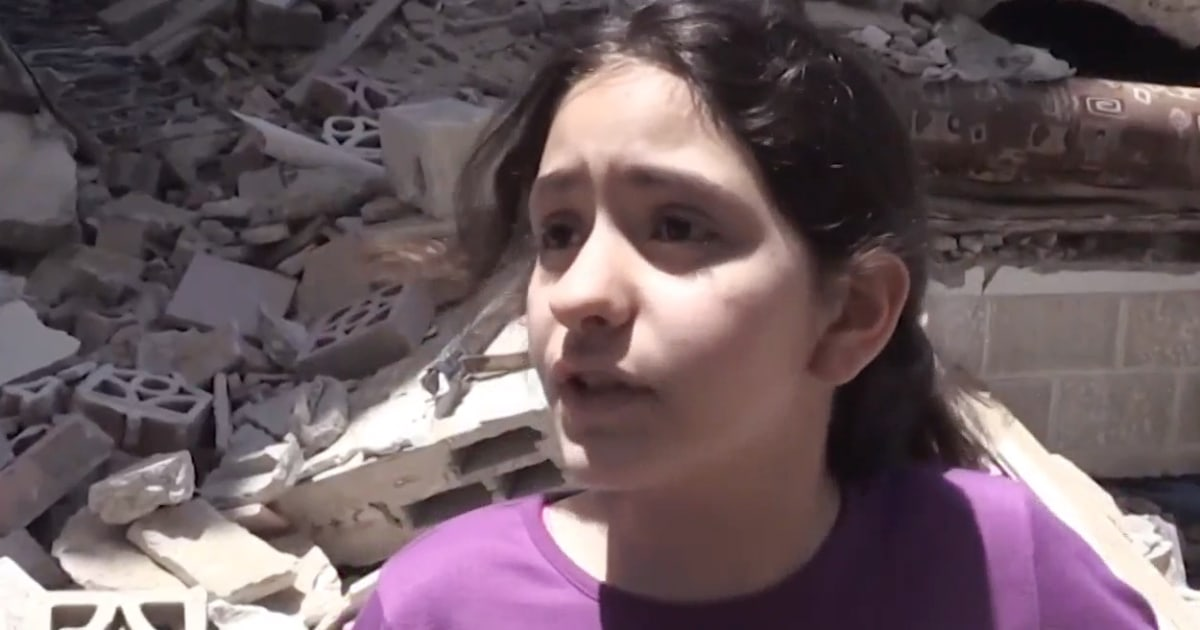 10-year-old girl reflects on destruction in Gaza City