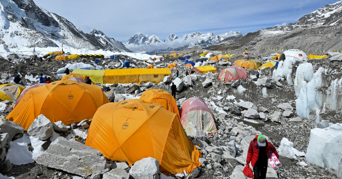 Climbing guide says coronavirus outbreak on Mount Everest has infected at least 100 people