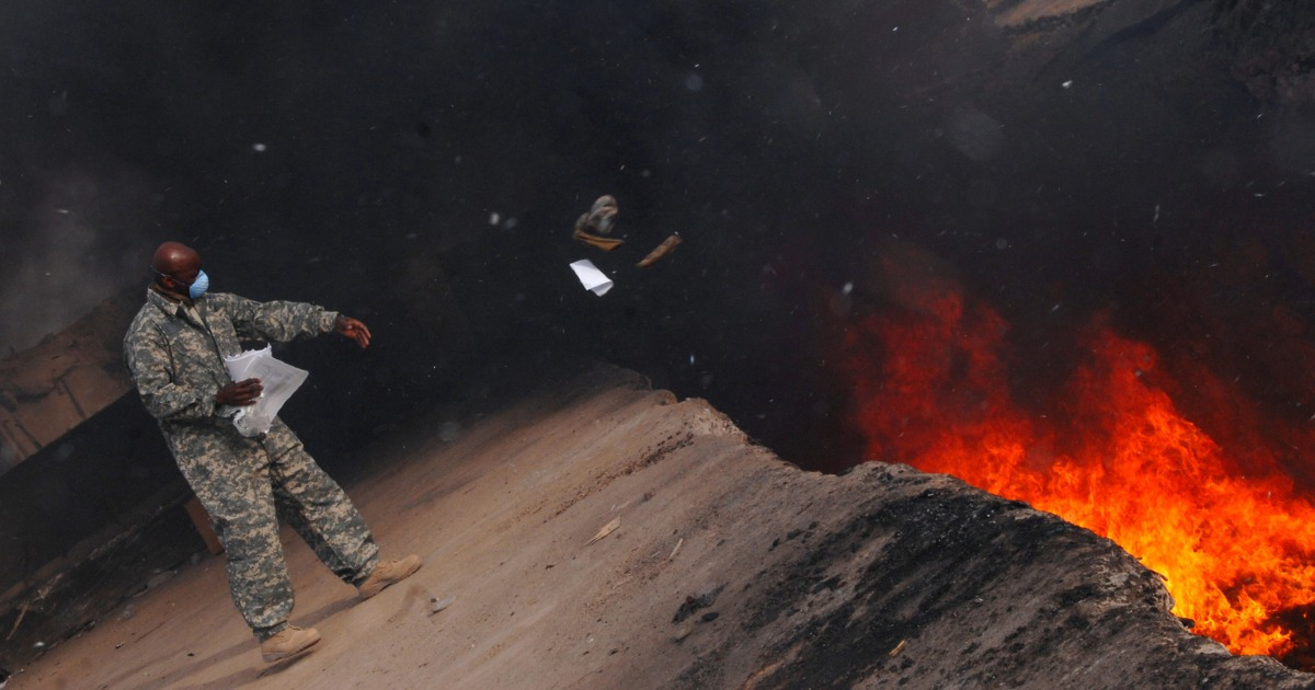 Help service members with toxic burn pit exposure