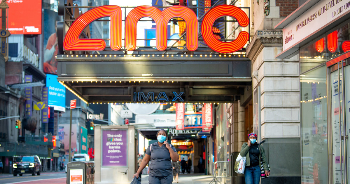 U.S. movie theaters remove mask mandate for vaccinated people