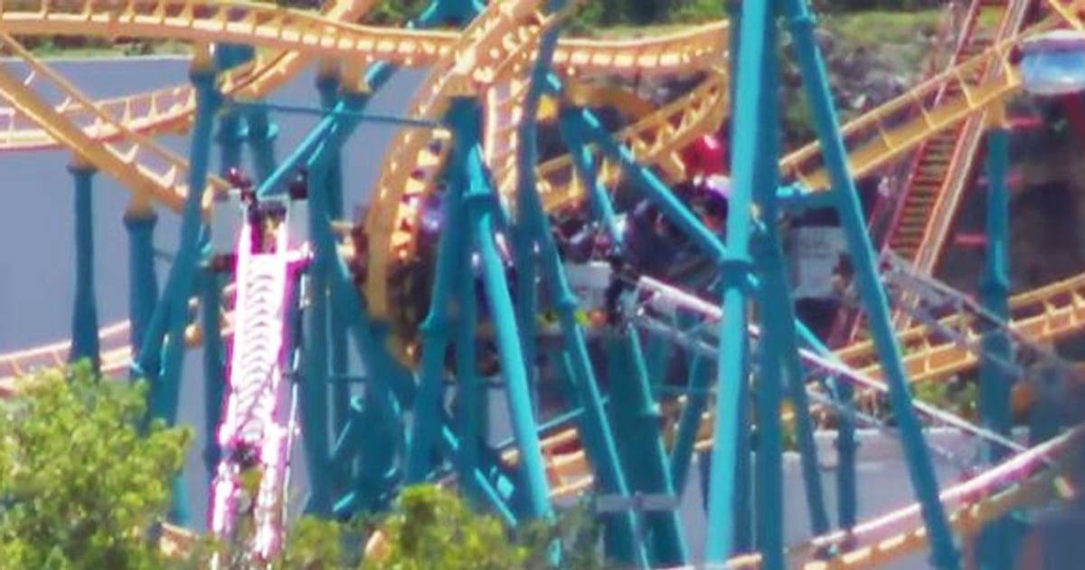 Multiple people rescued from stopped Six Flags roller coaster in Texas