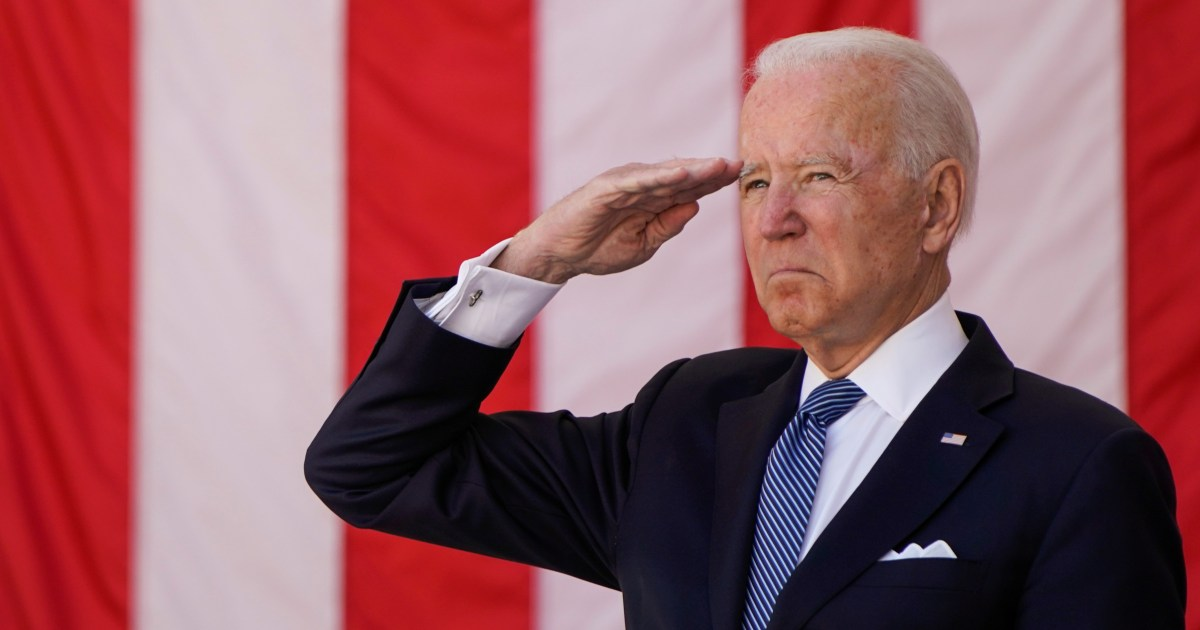 Biden observes Memorial Day at Arlington Cemetery with calls for empathy, unity