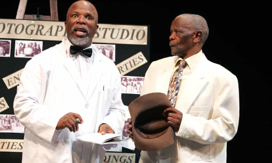 John Kani and Winston Ntshona in Sizwe Banzi Is Dead at London's National Theatre in 2007.