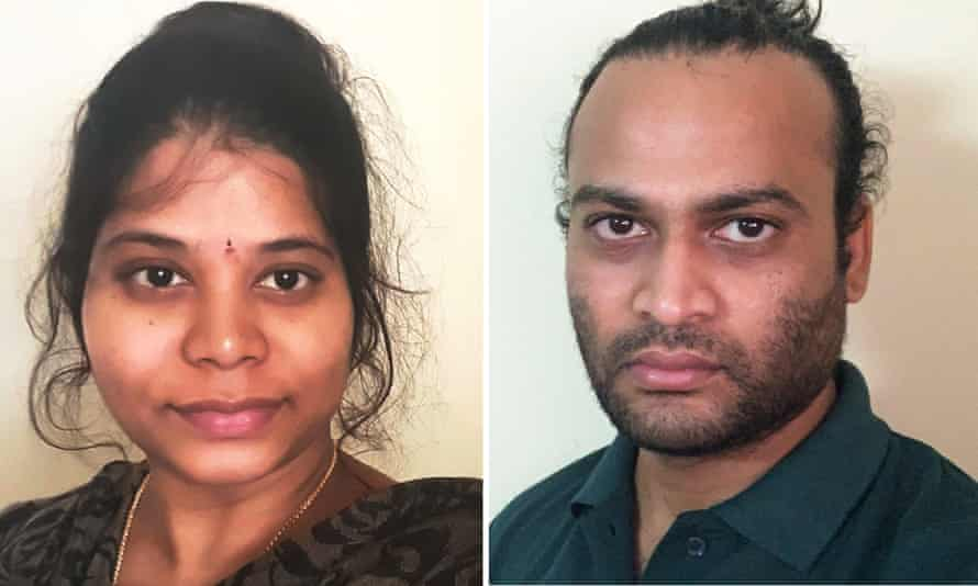 Australian citizens Shruthi and Vamshi Parepalli have been unable to return to Australia after the federal government criminalised returning from India.