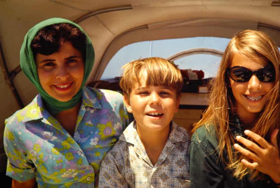 Lionel and her brother Timothy with their mother in Massachusetts, 1971.