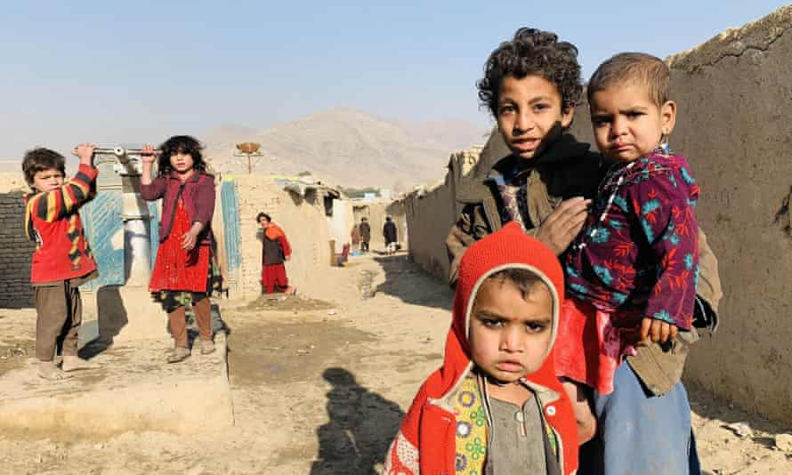 A camp in Kabul, Afghanistan for internally displaced people. In 2020 nearly 20 million IDPs were children under 15.