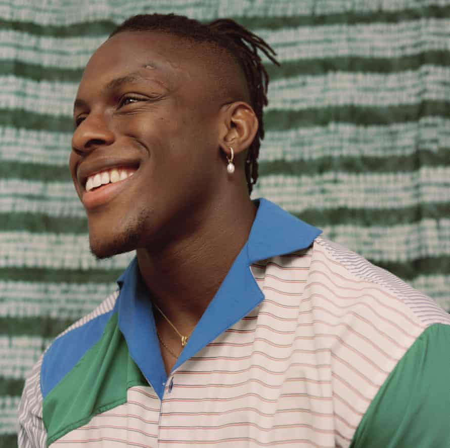 Head shot of rugby player Maro Itoje. April 2021