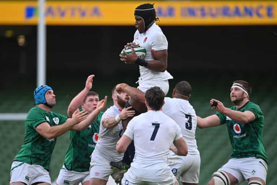Dublin , Ireland - 20 March 2021; Maro Itoje of England during the Guinness Six Nations Rugby Championship match between Ireland and England at the Aviva Stadium in Dublin.