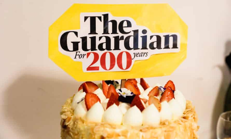 The Guardian Australia cake during celebrations for Guardian's 200 year birthday