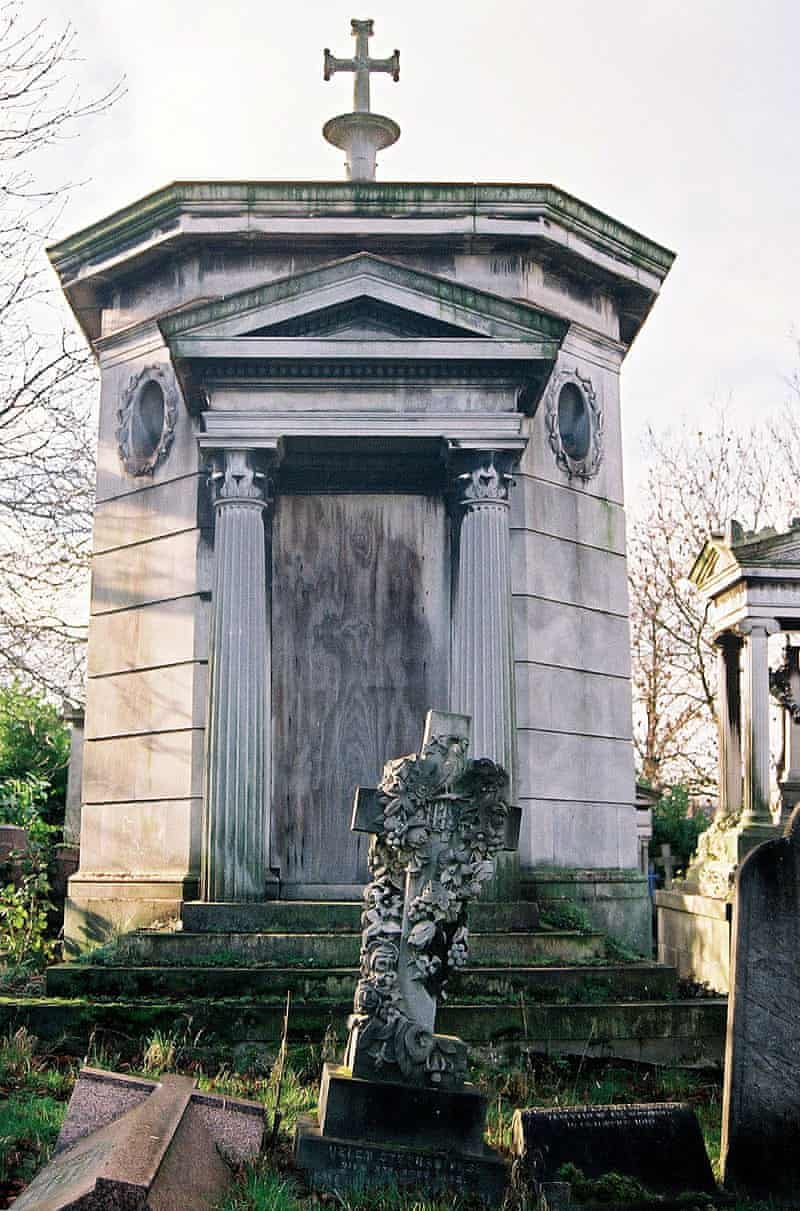 Stone vault with a cross on the top