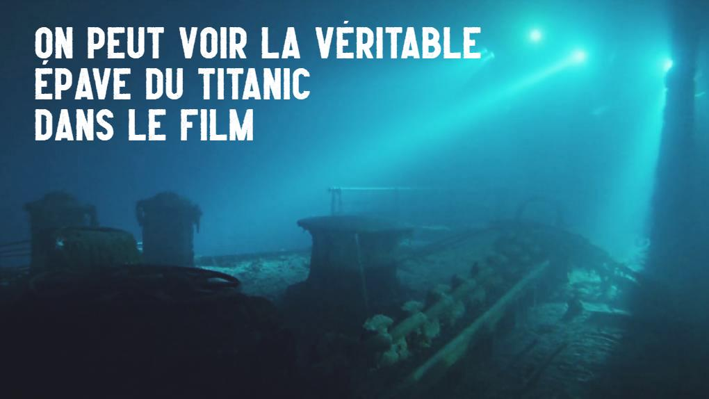 The real wreck of the Titanic can be seen in the movie