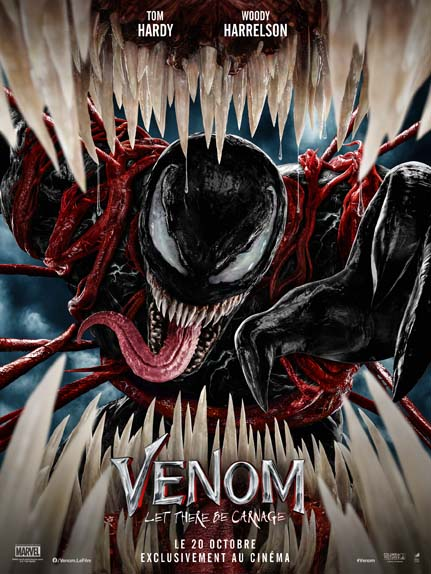 Venom: Let There Be Carnage with Tom Hardy, Michelle Williams, Naomie Harris ...