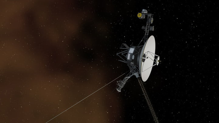 In an artist's depiction, the Voyager 1 craft continues to cruise through interstellar space.