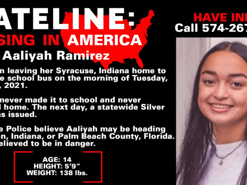 Family pleads for safe return of 14-year-old Aaliyah Ramirez who went missing in Indiana while walking to bus stop three weeks ago
