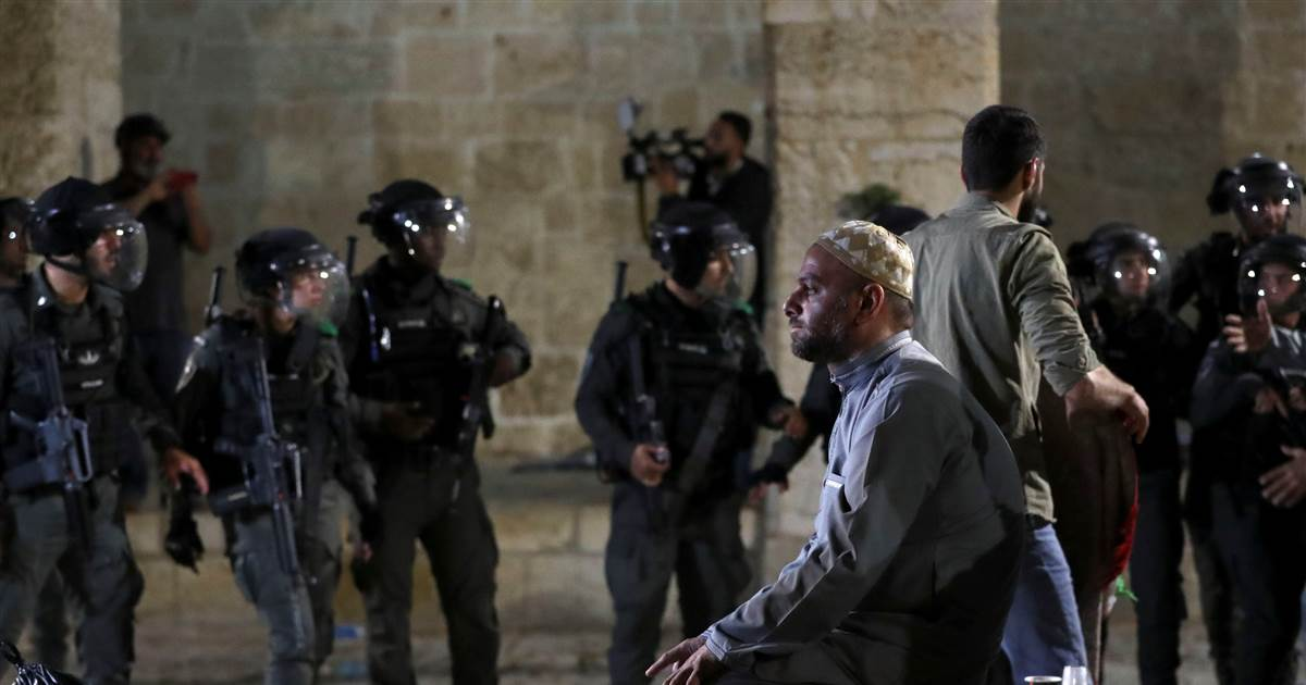 Dozens of Palestinians wounded in confrontations with police at sacred site in Israel