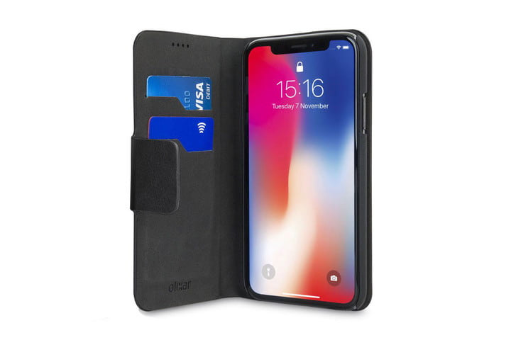 Olixar Leather-Style iPhone XR Wallet Stand Case