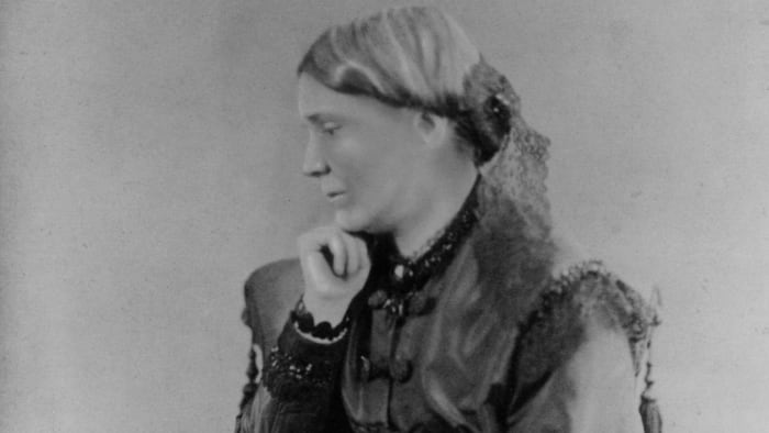 Dr. Emily Blackwell, born in England, c.  1860, one of the first women to perform surgery on a large scale.