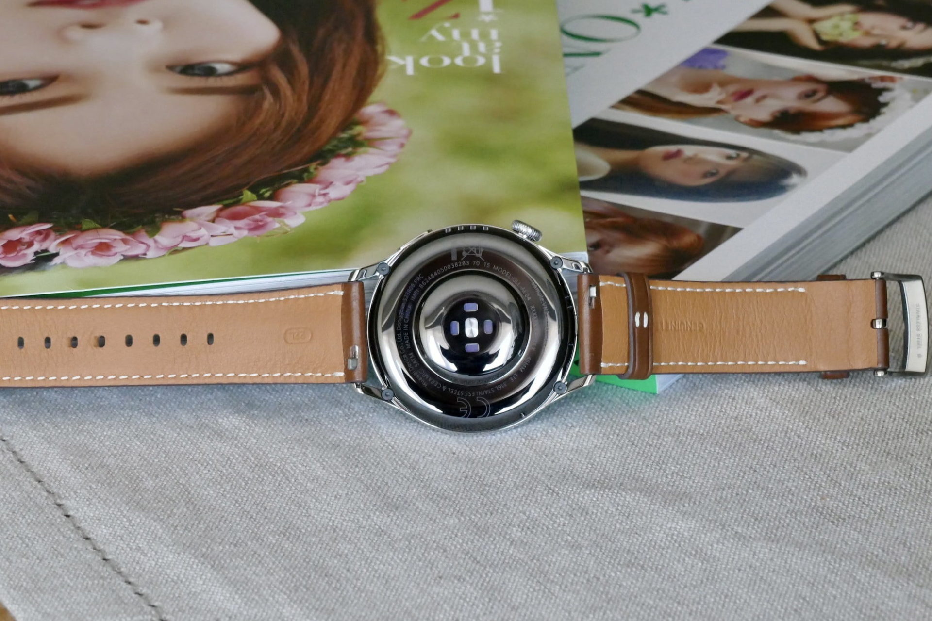 The back of the Huawei Watch 3