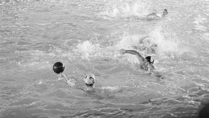 The water polo semi-final at the 1956 Olympics, played between Hungary and Russia, (a.k.a. the