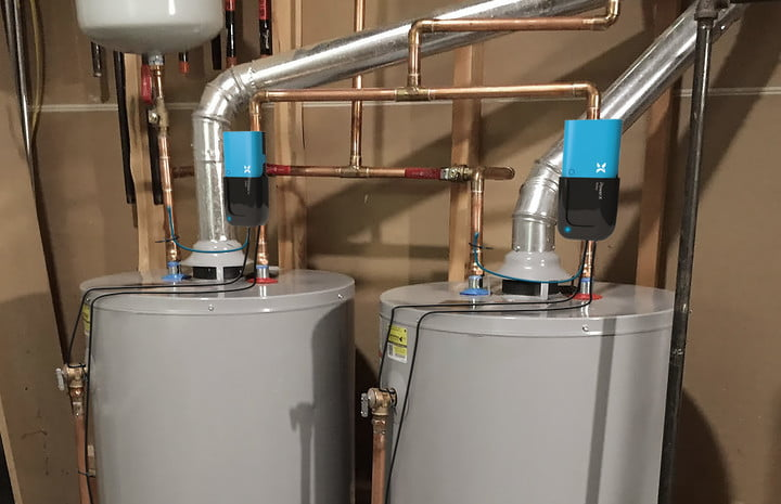 Power X modules installed on water heaters