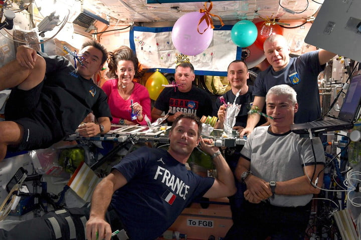 birthday on the space station