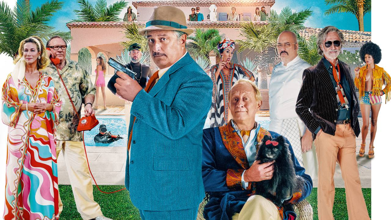 Mystery in Saint-Tropez trailer: Christian Clavier blundering inspector in this retro detective comedy