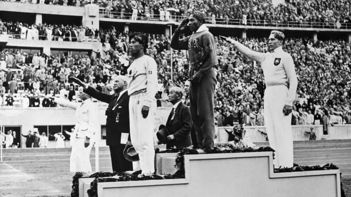 Gold medalist Jesse Owens, 1936 Olympic Games