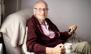 Dave Smith who had Covid for 11 months and three weeks continuously, pictured at Home in Downend, Bristol.