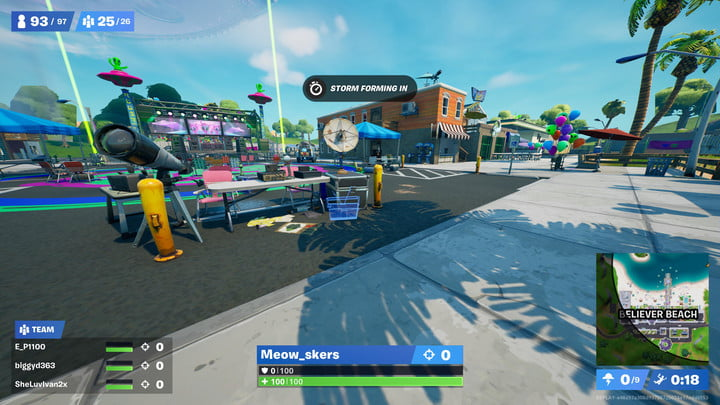 Boomboxes locations in Believer Beach