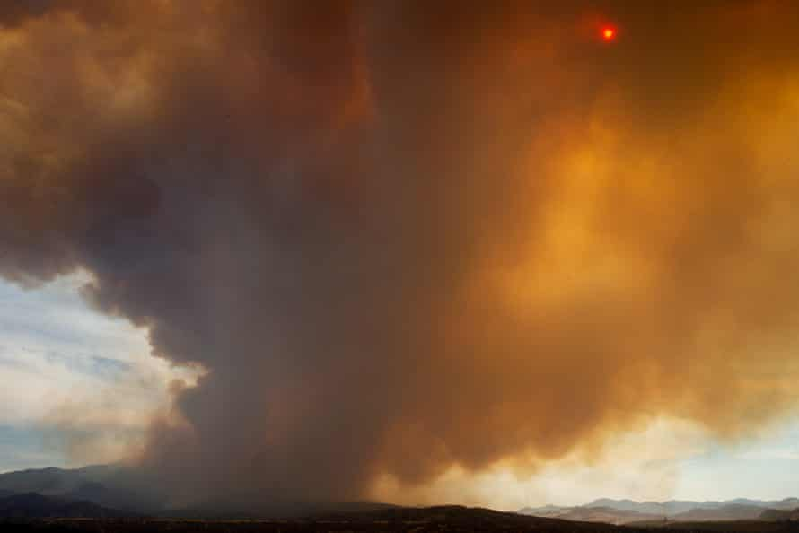 Smoke rises from the Telegraph fire on 7 June.