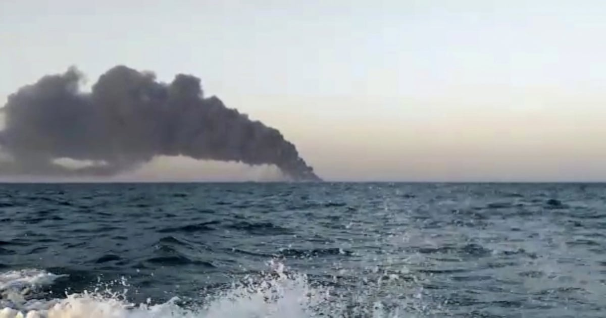 Iran's biggest warship catches fire, sinks in Gulf of Oman