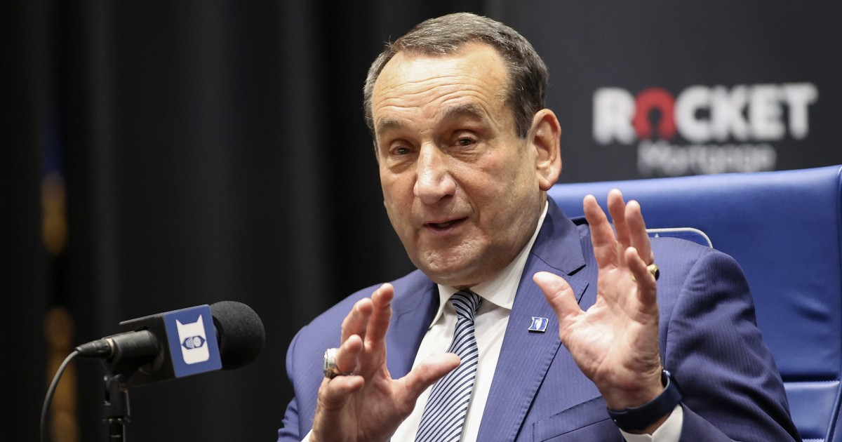 Duke basketball coach Mike Krzyzewski is looking forward to more time with family after retirement