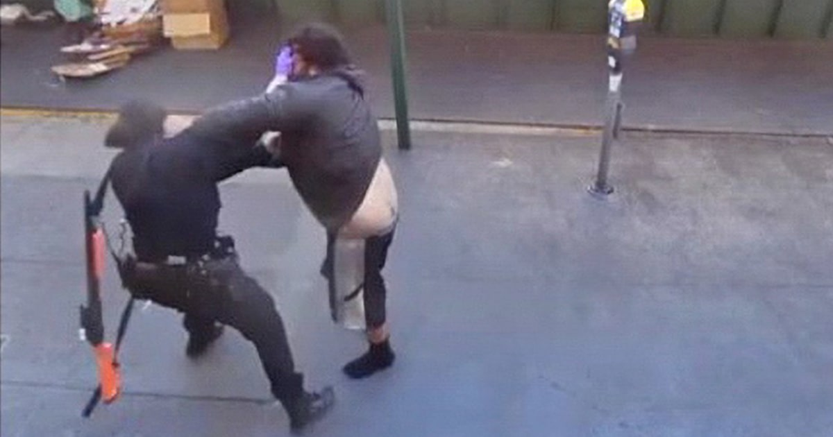 Video shows Asian female police officer attacked by man in San Francisco's Chinatown