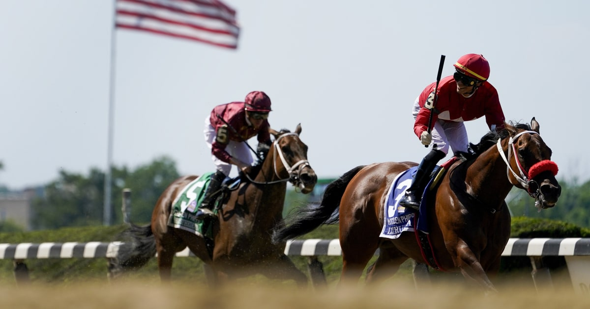 Essential Quality wins the Belmont Stakes