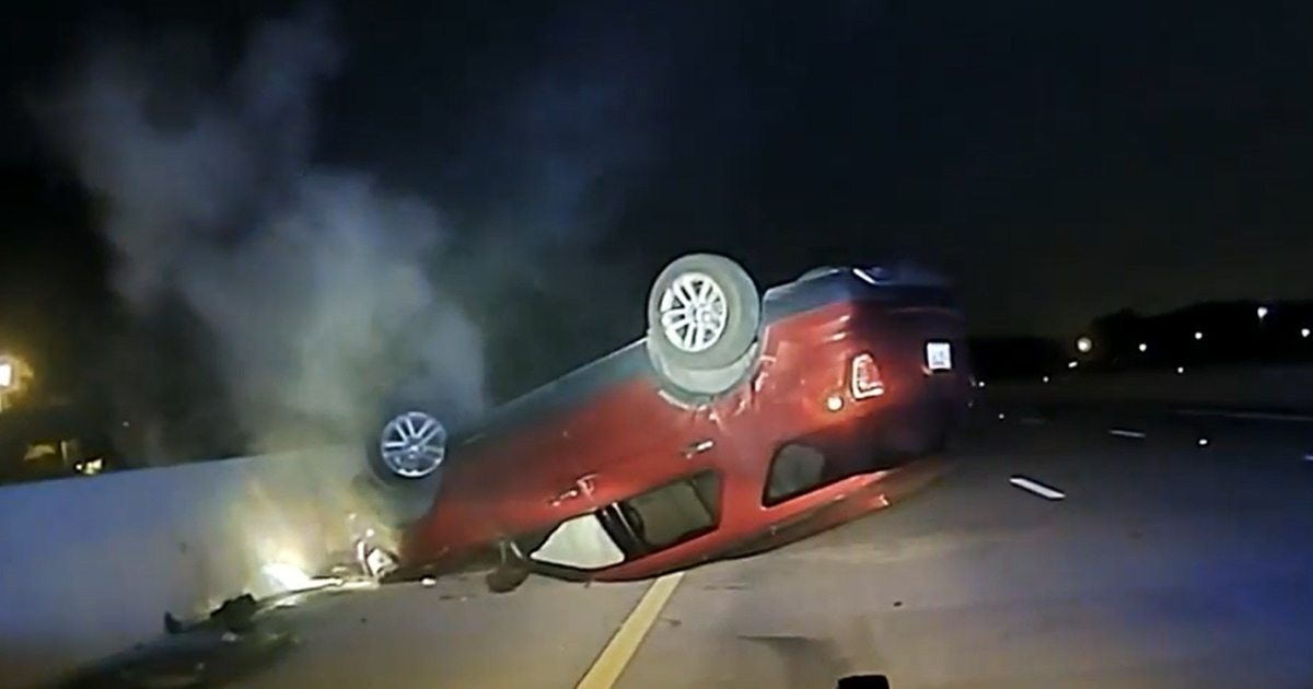 Arkansas woman suing police after brief chase ends with her car flipped on its top