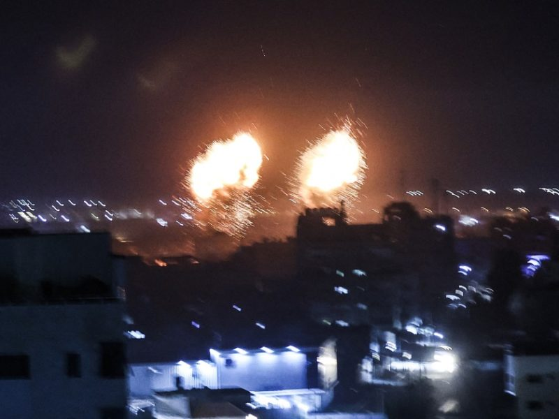 Israeli military says it fired rockets at Gaza over incendiary balloons