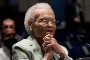 Viola Fletcher, the oldest living survivor of the Tulsa Race Massacre, testifies before the House on May 19.