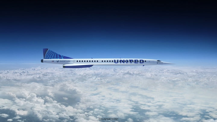 Boom Supersonic's Overture aircraft.